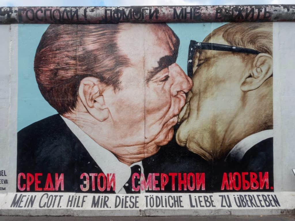 Fraternal Kiss Mural Berlin Germany