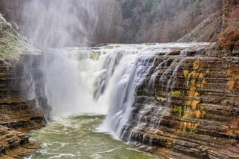Letchworth State Park Upper Falls of the Genesee River