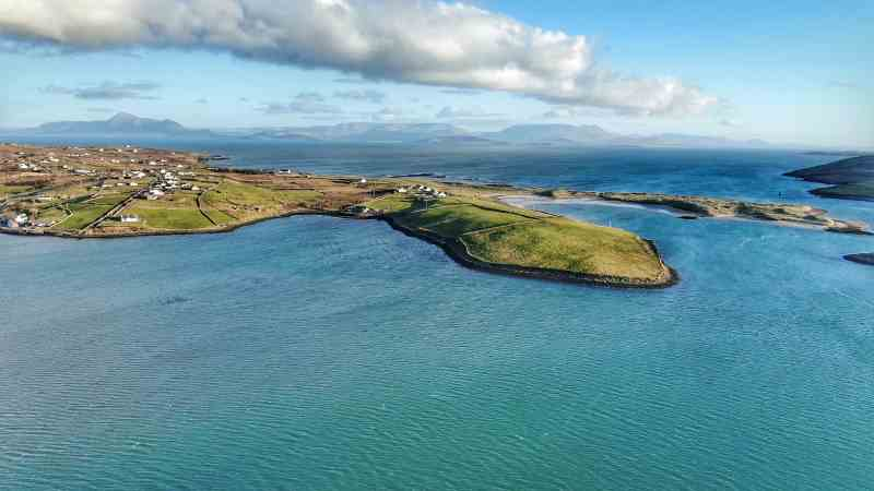 Aerial view of beautiful Co. Mayo