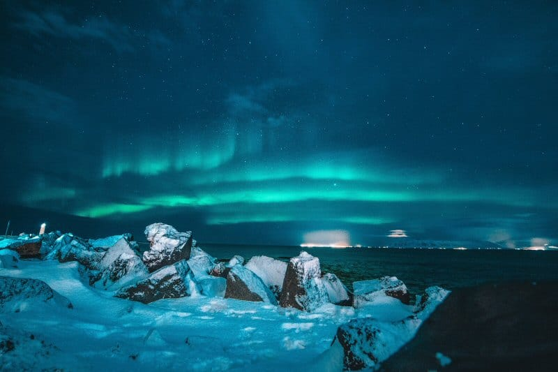 The Northern Lights as seen from Iceland