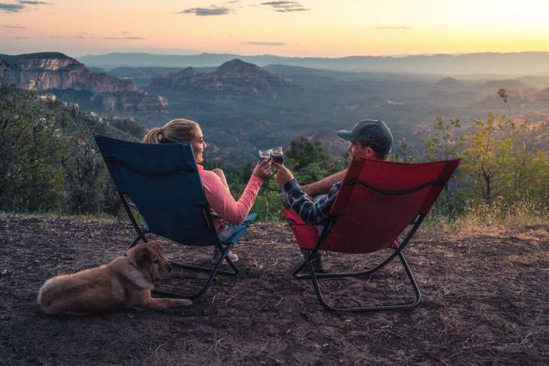 Happiness is camping with your dog