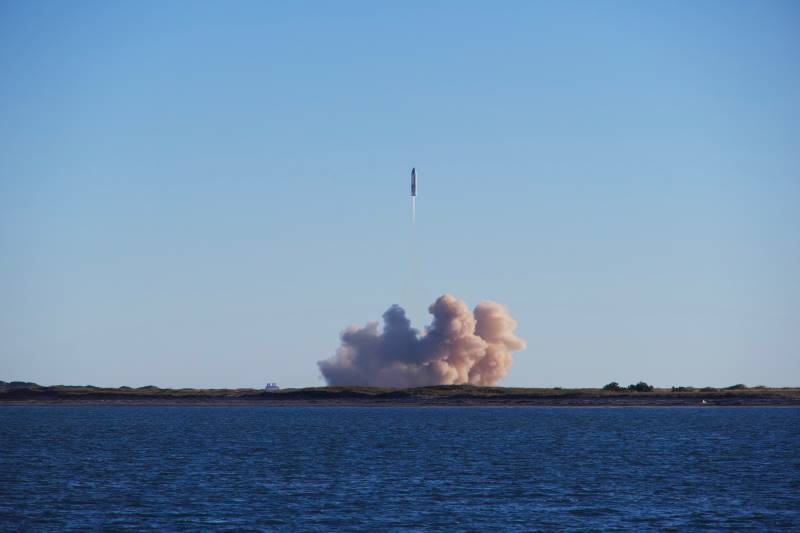 Liftoff from Boca Chica Launch facility